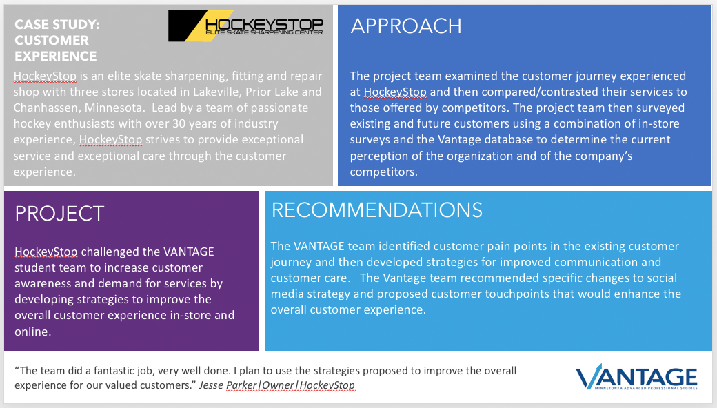 VANTAGE HockeyStop Partnership