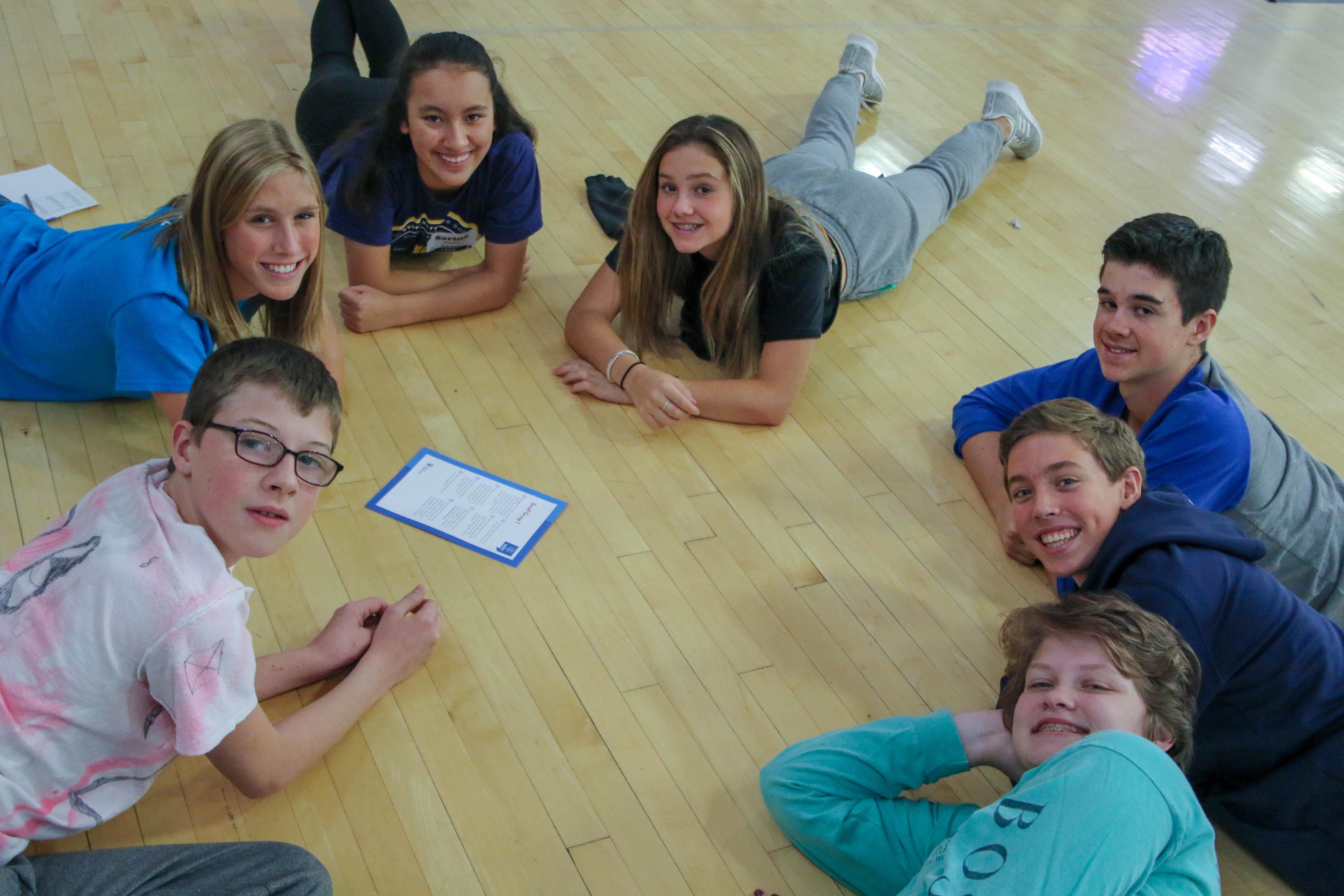 Students at MHS Freshmen Retreat